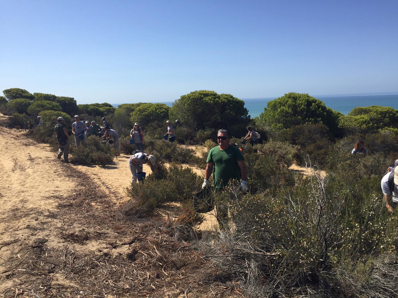 Voluntarios en Las Peñuelas
