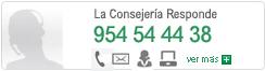 La Consejería Responde: 954 54 44 38
