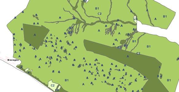 WMS Mapa de Zonificación del PORN vigente del Espacio Natural de Doñana
