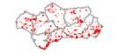 WFS Perímetros de incendios forestales en Andalucía, 2008-2017