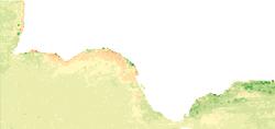 WMS Serie de imágenes de satélite AQUA MODIS. Clorofila-a anomalías por mes: Año 2018 respecto a la serie histórica 2000-2018. 1100 m. Océano Atlántico y Mar de Alborán