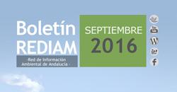 Boletín REDIAM. Septiembre 2016