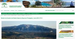 Boletín de Gestión del Medio Natural y Espacios Protegidos nº 12 Junio 2018