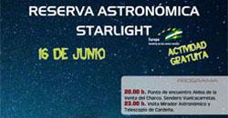 Reserva Astronómica Starlight. Visita al Mirador Astronómico y Telescopio de Cardeña