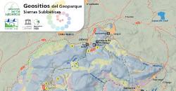 Mapa de geositios Sierras Subbéticas