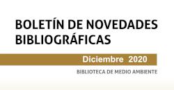 Boletín de novedades de la Biblioteca. Diciembre 2020