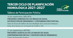 Talleres de Participación Pública del Tercer Ciclo de Planificación Hidrológica 2021/2027