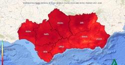 Visor de escenarios climáticos en Andalucía