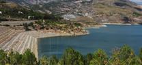 El pantano de Benínar contiene 3,8 hectómetros cúbicos de agua, un 58% menos que a finales de noviembre de 2013