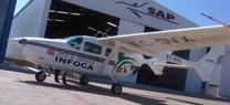 Un avión del Plan INFOCA realiza misiones de vigilancia preventiva sobre distintas zonas de Andalucía