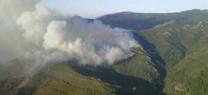 Más de 100 efectivos del INFOCA trabajan en la extinción de un incendio forestal declarado en Algeciras