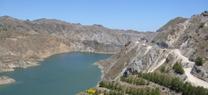 El pantano de Cuevas contiene 21,8 hectómetros cúbicos de agua, un 14% menos que en noviembre de 2013