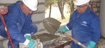 Medio Ambiente realiza unas obras de ampliación del comedor del área recreativa de El Serbal, en Abrucena
