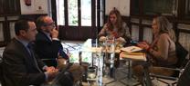 María Jesús Serrano se reúne con la Asociación de Fabricantes de Áridos de Andalucía para conocer las propuestas del sector