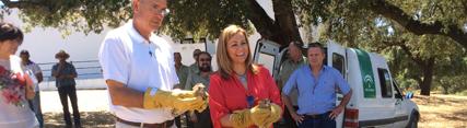 Serrano apuesta por impulsar el ecoturismo en la Sierra Norte de Sevilla para fortalecer el desarrollo socieconómico de sus pueblos