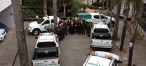 María Jesús Serrano entrega 33 nuevos vehículos a los agentes adscritos a la Consejería de Medio Ambiente