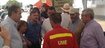 José Fiscal valora la coordinación entre todas las administraciones para la extinción del incendio de Quesada