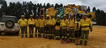 La Junta realiza un simulacro de incendio forestal en Huelva para avanzar en la coordinación de las emergencias