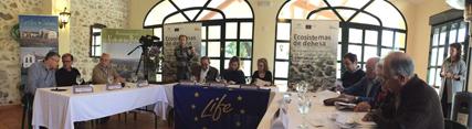 Serrano destaca el papel de las dehesas en la conservación de la biodiversidad y en la creación de empleo