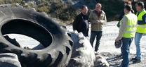 La Junta retira 485 toneladas de neumáticos abandonados en Vélez-Rubio para su reutilización o reciclaje