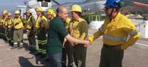 El delegado de Medio Ambiente supervisa la operatividad de los medios del Plan INFOCA en el Cedefo de Serón en Almería