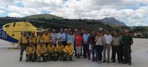 La delegada del Gobierno visita el Cedefo de Carcabuey, uno de los tres que cubren la provincia de Córdoba dentro del Plan Infoca