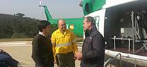 El delegado de Medio Ambiente visita las instalaciones del Plan Infoca en Madroñalejo, Sevilla