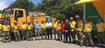 La delegada del Gobierno destaca la profesionalidad y operatividad del Infoca y hace un llamamiento para evitar incendios forestales