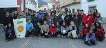 55 voluntarios medioambientales de la UAL participan en un proyecto de mantenimiento del sendero micológico Serbal-Fuente de Paredes