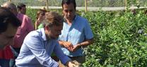 José Fiscal visita las instalaciones de la empresa Atlantic Green en Aroche