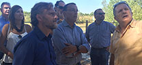 Fiscal visita los terrenos de la ampliación de Doñana y asegura que son una garantía de conservación y uso sostenible del espacio natural