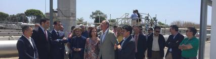 José Fiscal visita la EDAR de El Bobar, que ha incrementado su capacidad de tratamiento y podrá atender a 321 mil habitantes