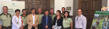 Momento de la reunión con el Alcalde de Granada