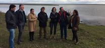 Fiscal visita las marismas de Doñana tras las precipitaciones de los últimos meses, que han superado los 300 litros por metro cuadrado