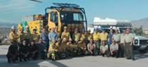 Antonio Martínez destaca la profesionalidad y entrega de los hombres y mujeres que protegen nuestros montes en su visita al CEDEFO de Alhama