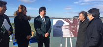 José Fiscal, Javier Barrero y Gabriel Cruz inauguran paneles informativos de Marismas del Odiel y del Muelle del Tinto