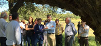 José Fiscal destaca el papel que desarrolla la dehesa en la protección y el fomento de la biodiversidad en Andalucía