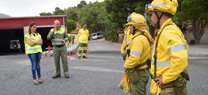 El dispositivo sanitario del Infoca realiza con éxito un simulacro de evacuación aérea de heridos