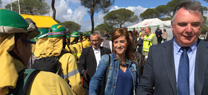 La Junta examina con un simulacro la coordinación de los operativos de emergencia ante incendios forestales