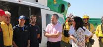 La delegada del Gobierno visita el Cedefo de Villaviciosa de Córdoba, uno de los tres que cubren la provincia dentro del Plan Infoca