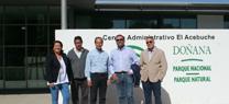 Una delegación de parques nacionales de Estados Unidos visita Doñana para conocer temas relacionados con su gestión