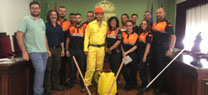 La Junta proporciona material de lucha contra el fuego al Grupo Local de Pronto Auxilio de Tabernas