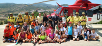 Escolares de Purchena conocen la lucha contra los incendios forestales que se realiza en el Cedefo de Serón