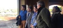José Fiscal visita las obras del Espacio Natural de Doñana en las que se podrán observar linces ibéricos a principios de 2018