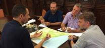 Fiscal se reúne con responsables del grupo de trabajo para la restauración de la zona afectada por el incendio del entorno de Doñana