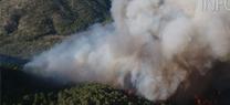 Incendio forestal en Segura de la Sierra
