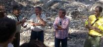El director general de Gestión del Medio Natural y Espacios Protegidos visita la zona afectada por el incendio de Segura de la Sierra