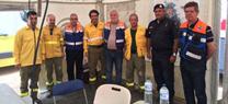 Bomberos forestales del INFOCA frenan el avance del incendio de Góis en el frente de Pampilhosa da Serra