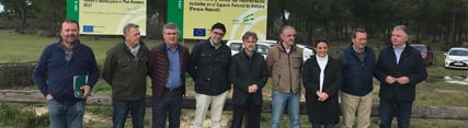 José Fiscal visita obras en Doñana