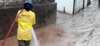 Personal del Plan INFOCA durante las actuaciones por las inundaciones